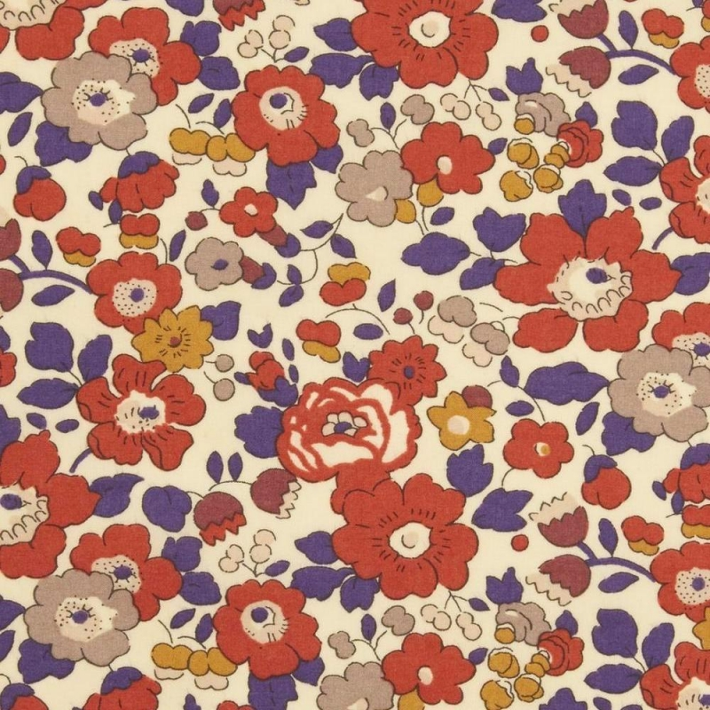 Liberty Betsy C red 40th Tana Lawn Cotton