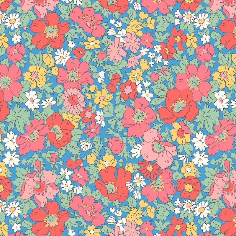 Liberty Fabrics Flower Show Midsummer, Cosmos Flower