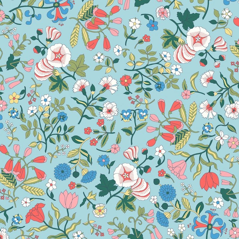 Liberty Fabrics Flower Show Midsummer, Wildflower Field