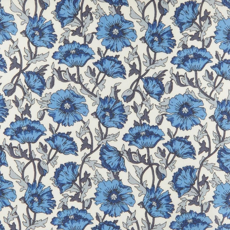 Liberty Astell Reece blue Tana Lawn Cotton