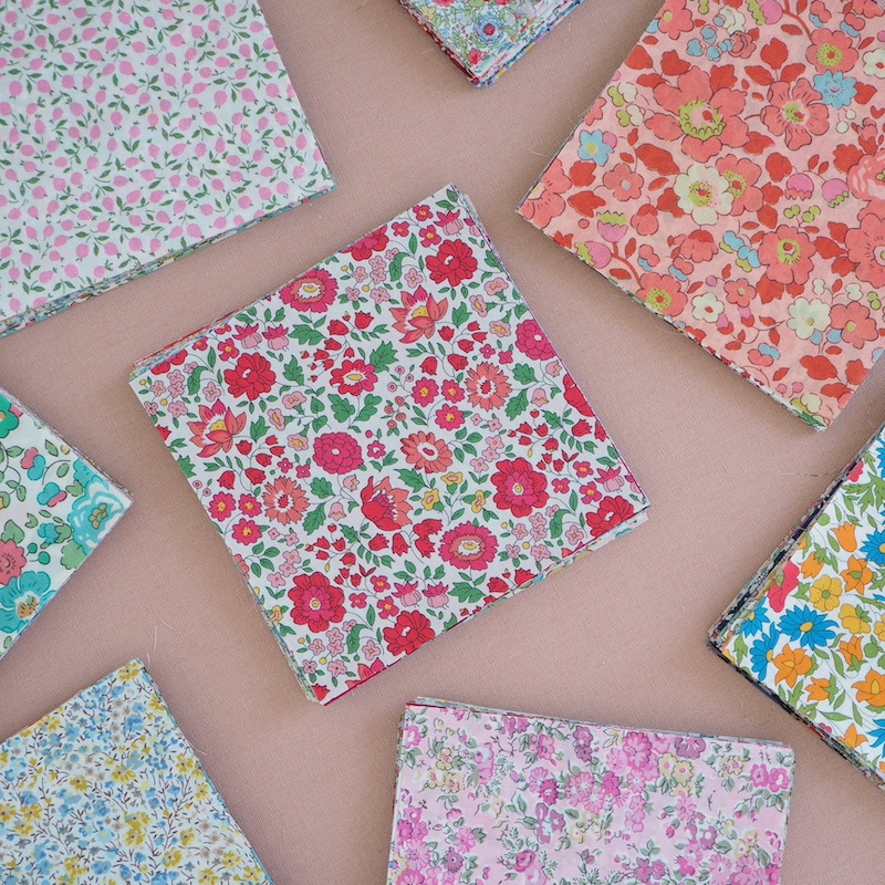"""Liberty fabric 5"""" Squares for patchwork"""