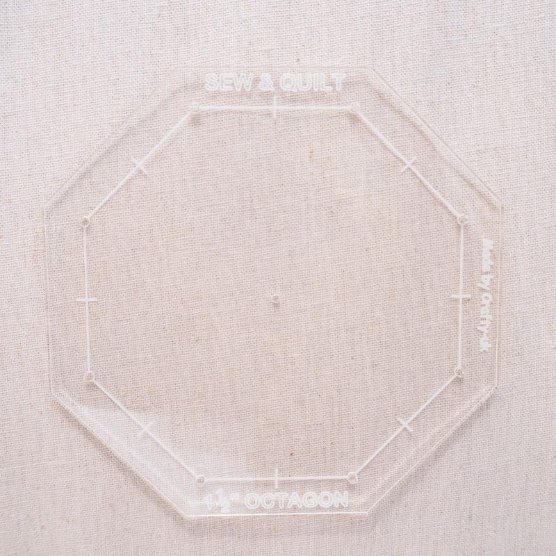 Octagon-acrylic-template-fussy-cutting