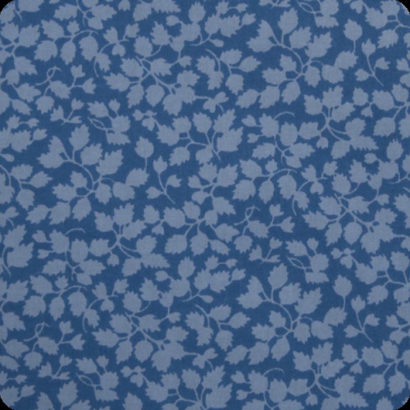 Liberty Glenjade blue tone on tone blue floral Tana Lawn cotton fabric