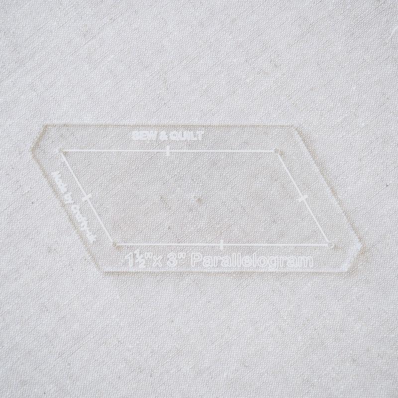 "Acrylic Cutting Template 1-1/2"" x 3"" Parallelogram"