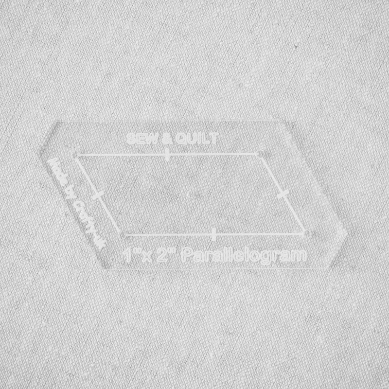 "Acrylic Cutting Template 1"" x 2"" Parallelogram"