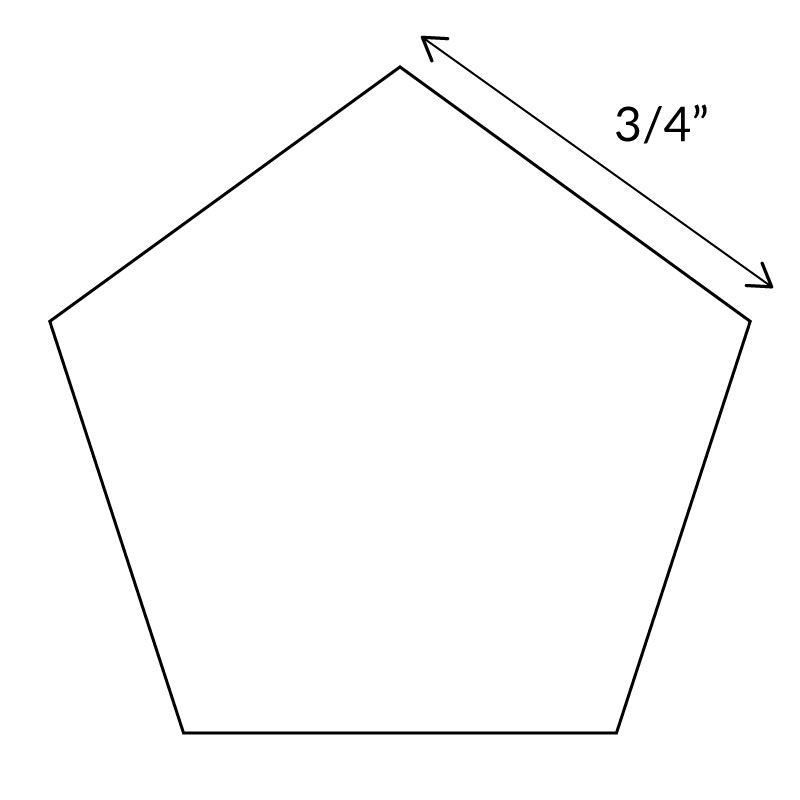 "English Paper Pieces 3/4"" Pentagon"