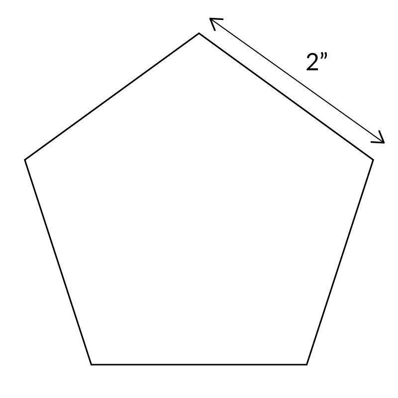 "English Paper Pieces 2"" Pentagon"