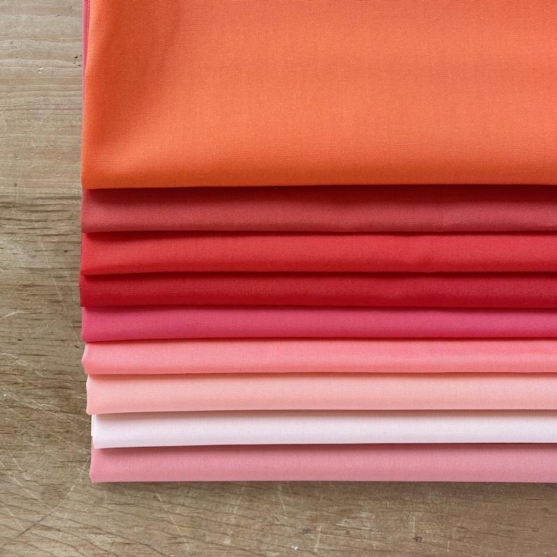 Art Gallery Fabrics Pure Solids Pink Red Fat Quarter Bundle