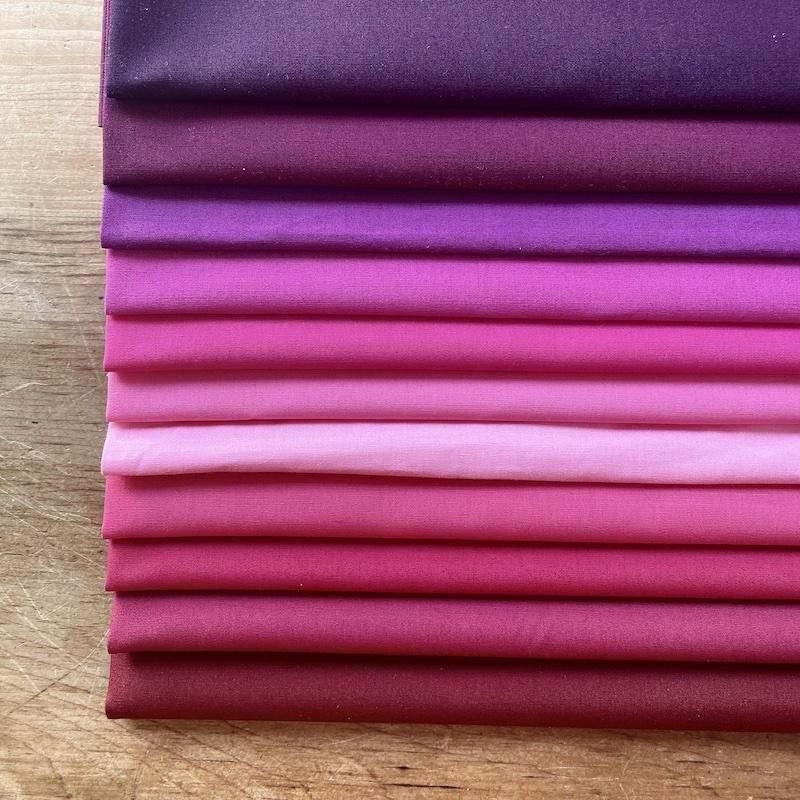 Art Gallery Fabrics Pure Solids Plum Purple Fat Quarter Bundle