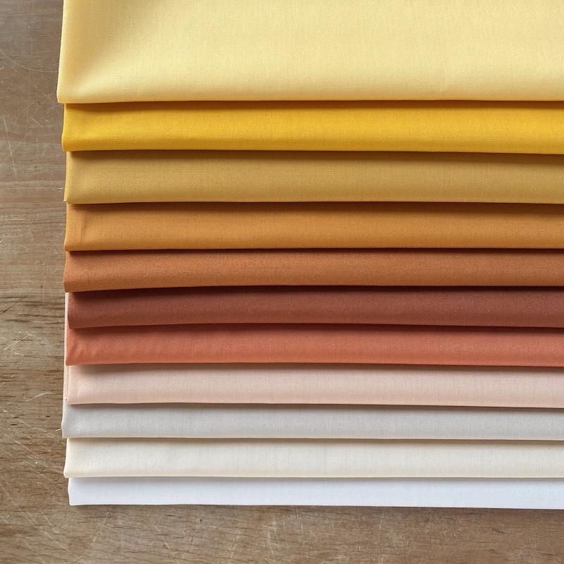 Art Gallery Fabrics Pure Solids Neutral Fat Quarter Bundle