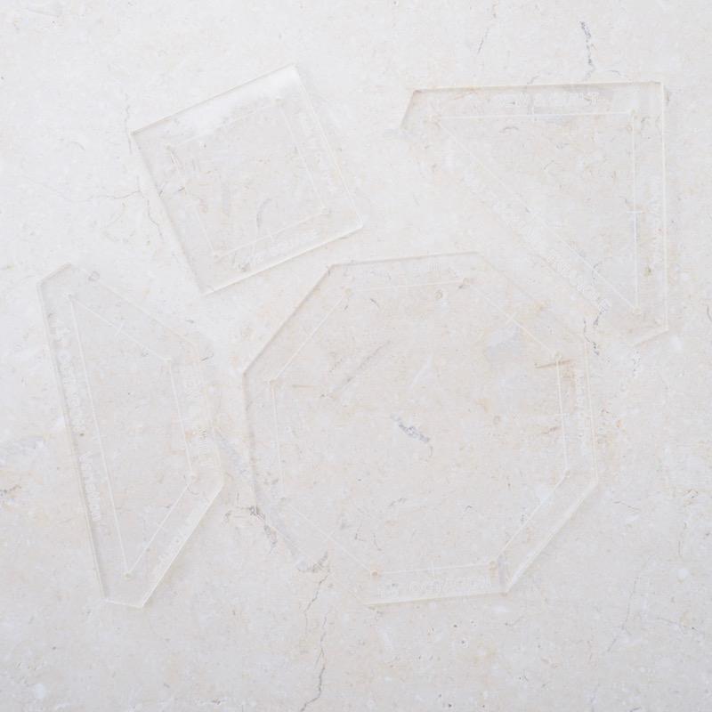 Rose Window EPP acrylic template kit by Jessie Fincham