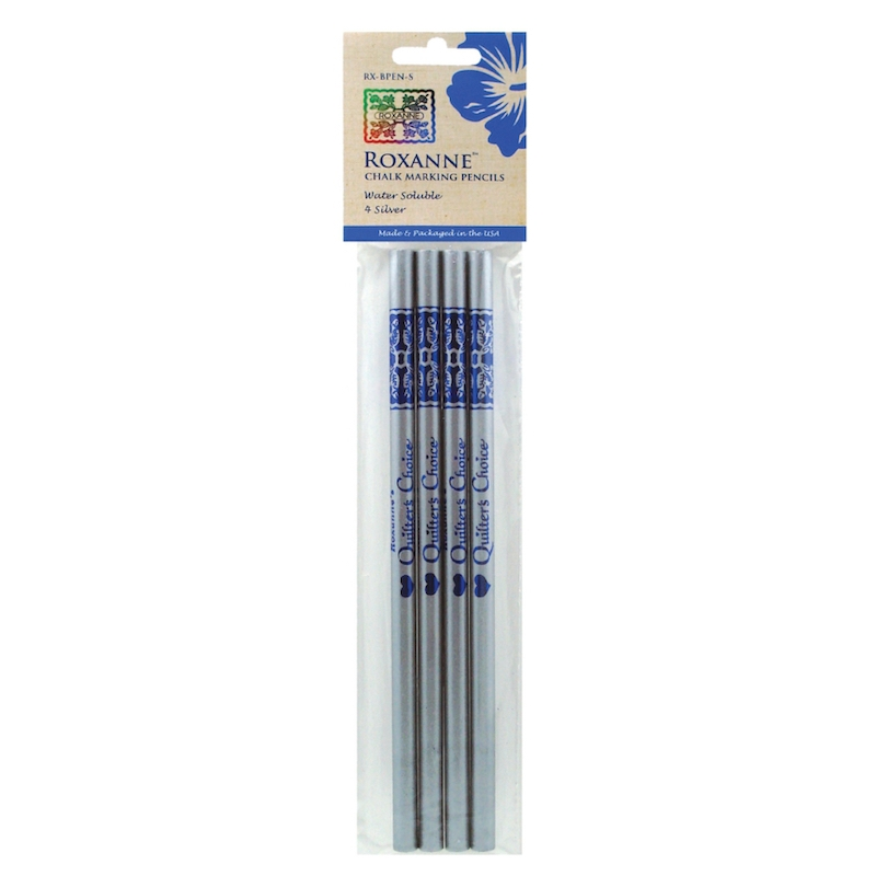 Roxanne Quilter's Choice Chalk Marking Pencils, Silver