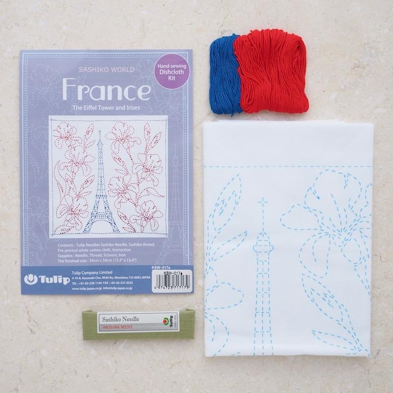 Sashiko-Kit-Tulip-Hiroshima-France-Eiffel-Tower