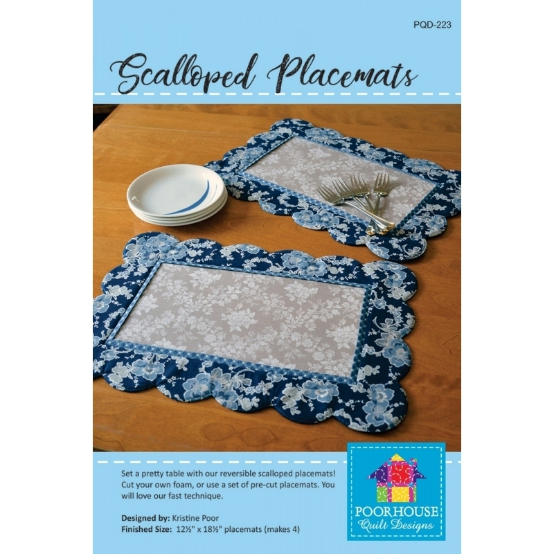 Scalloped Placemats Sewing Pattern