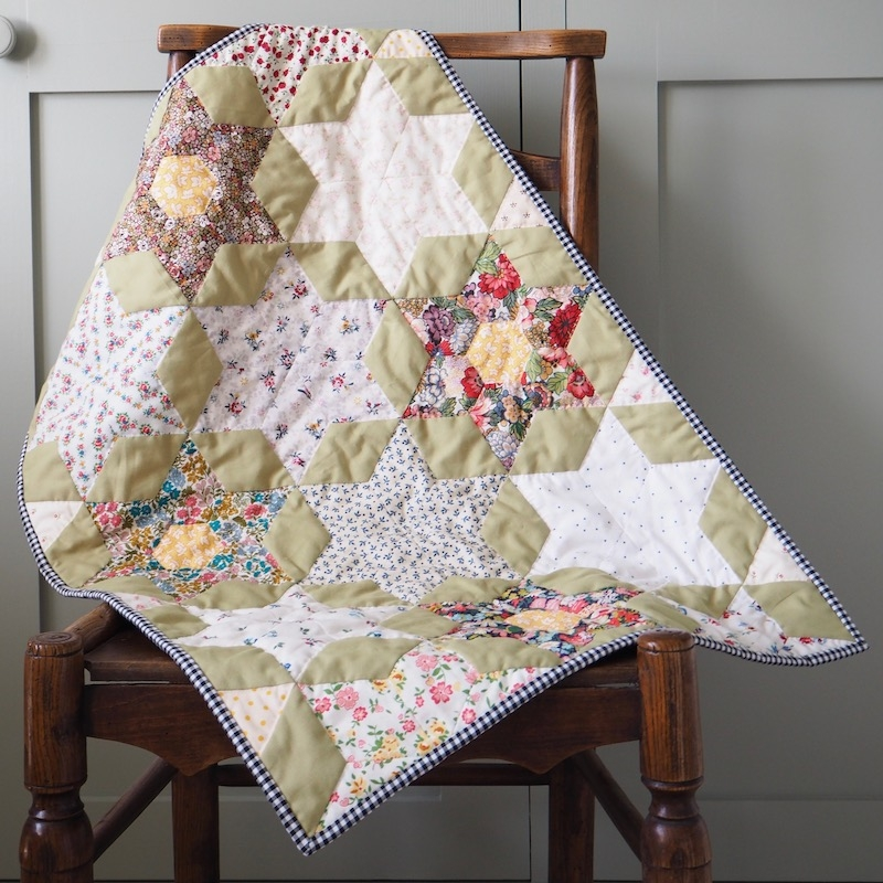 Spring Forward English Paper Pieced Quilt kit by Sew & Quilt