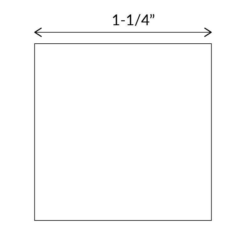 Square paper templates for English Paper Piecing 1-1/4 inch size
