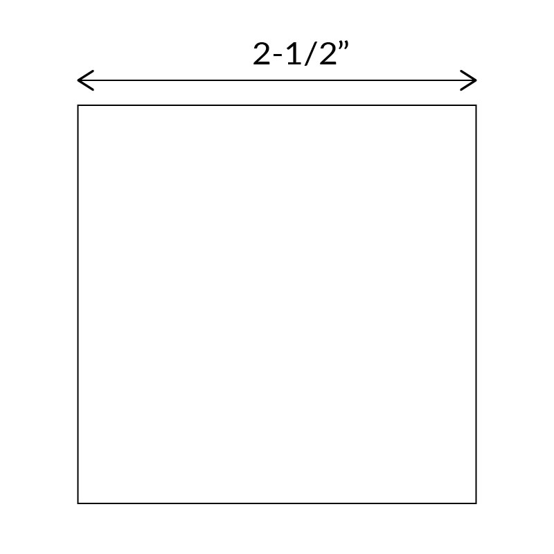 Square paper templates for English Paper Piecing 2-1/2 inch size