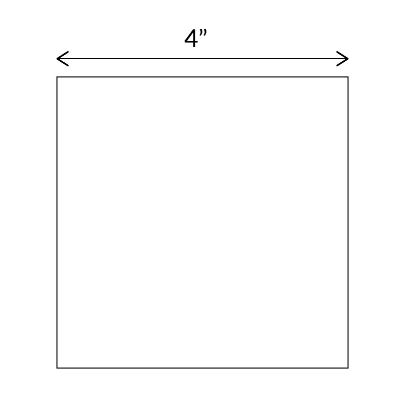 Square paper templates for English Paper Piecing 4 inch size