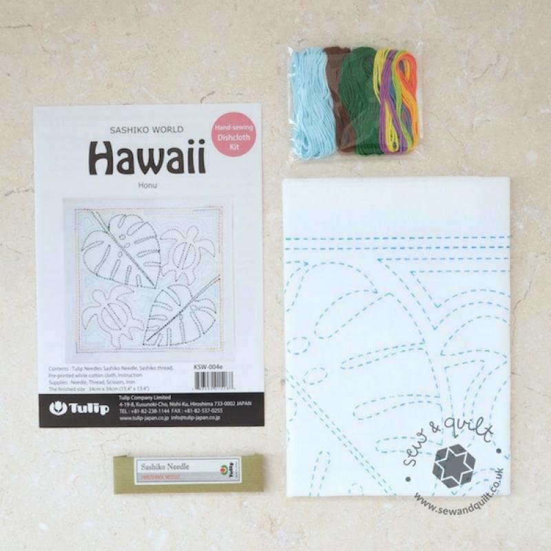 Tulip Sashiko Sewing Kit, Hawaii - Honu