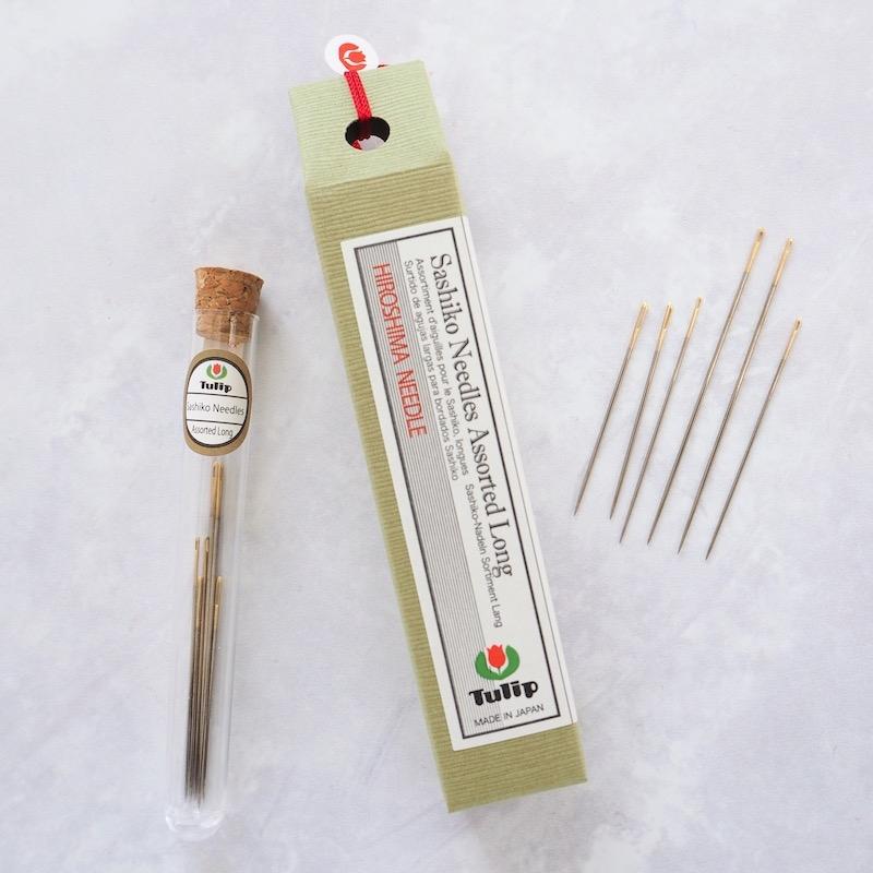Tulip Hiroshima Sashiko needles assorted long sizes