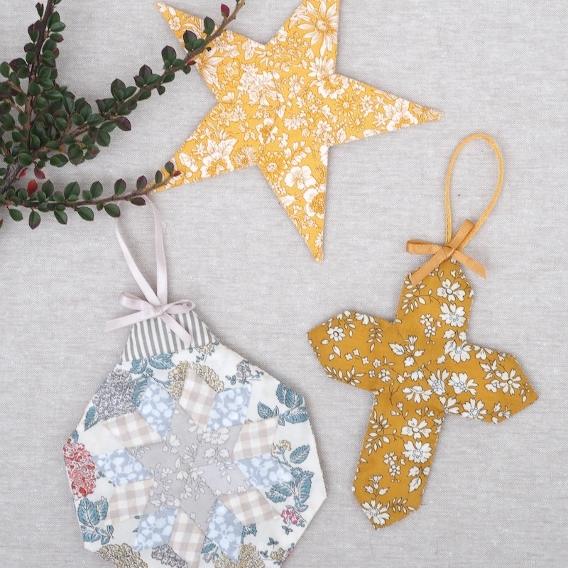 Twinkling Trinkets Christmas ornaments Sewing Pattern & Kit