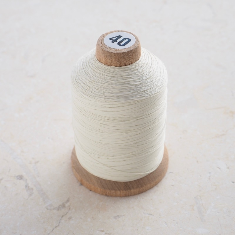 Hand Quilting thread by YLI 40 ply Natural colour