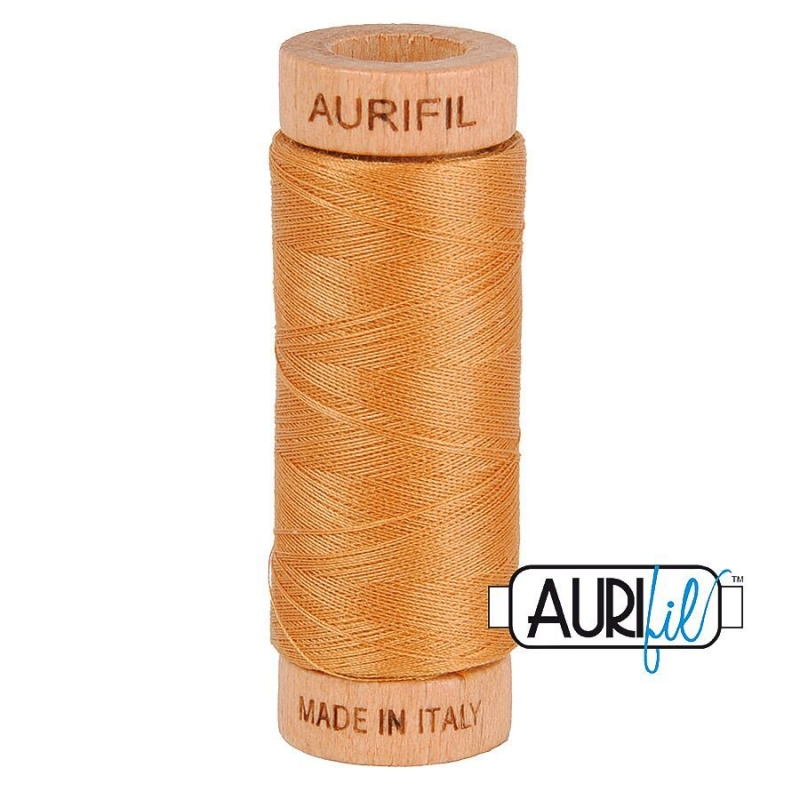 aurifil 2930 golden toast thread