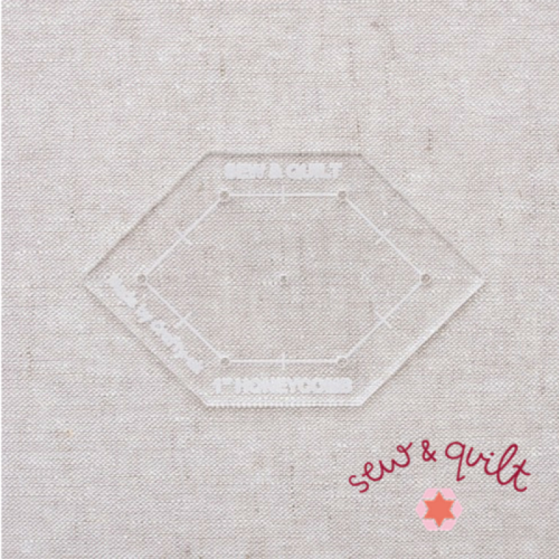 fussy_cutting_acrylic_template_honeycomb_1_inch