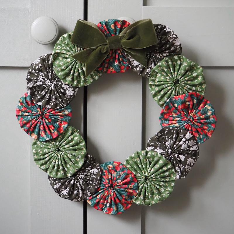 Handmade fabric Christmas wreath decoration kit