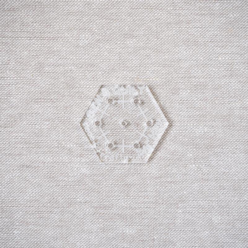 three-eighths-hexagon-acrylic-template